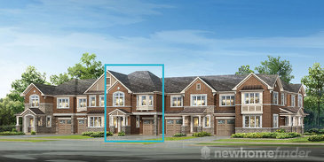 The Windsor new home model plan at the Hawthorne South Village by Mattamy Homes in Milton