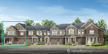 The Parkhill End new home model plan at the Hawthorne South Village by Mattamy Homes in Milton