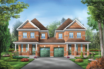The Sutton 1 new home model plan at the Saddle Ridge by Starlane Home Corporation in Milton