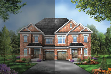 The Sutton 7 new home model plan at the Saddle Ridge by Starlane Home Corporation in Milton