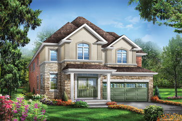 The Foster 3 new home model plan at the Saddle Ridge by Starlane Home Corporation in Milton