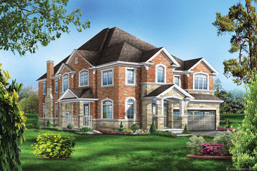 The Foster new home model plan at the Saddle Ridge by Starlane Home Corporation in Milton
