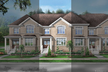 The Jasper 1 new home model plan at the Saddle Ridge by Starlane Home Corporation in Milton