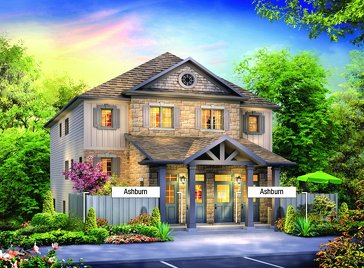 The Ashburn new home model plan at the Andover Trails by Eastforest Homes in London