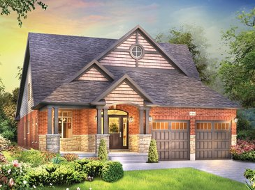 The Elliott new home model plan at the Eby Estates by Eastforest Homes in Kitchener