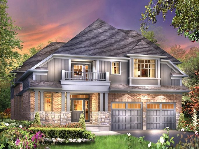 Vinson floor plan at Eby Estates by Eastforest Homes in Kitchener, Ontario