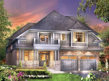 The Vinson new home model plan at the Eby Estates by Eastforest Homes in Kitchener
