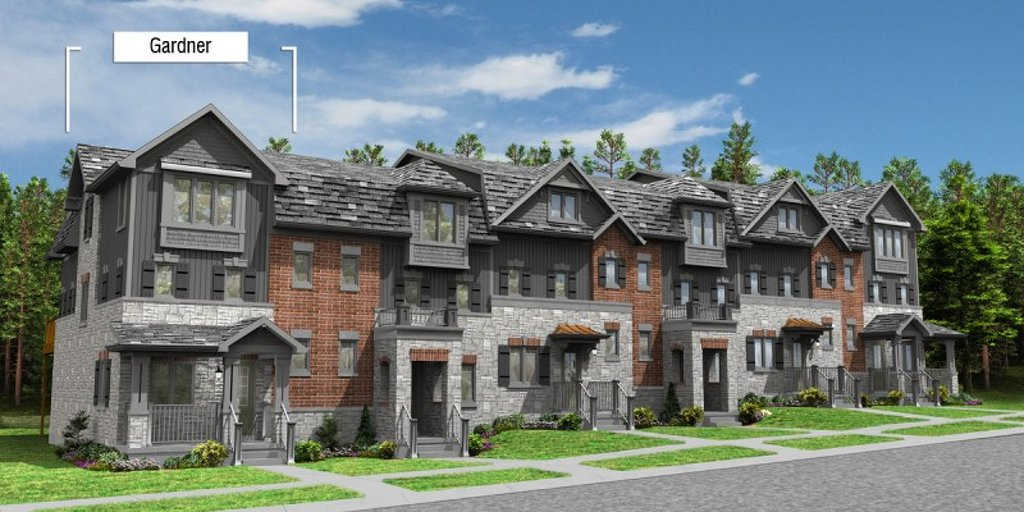 Gardner - End floor plan at Eby Estates by Eastforest Homes in Kitchener, Ontario