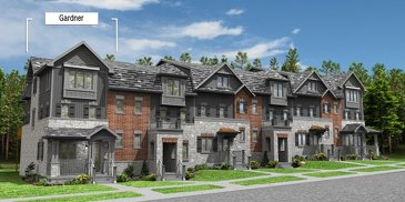 The Gardner - End new home model plan at the Eby Estates by Eastforest Homes in Kitchener