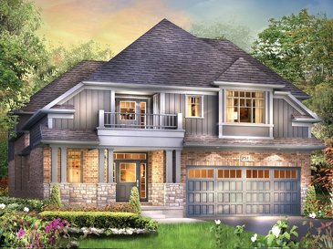 The Wentworth II new home model plan at the Grandville by Eastforest Homes in Paris