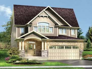 The Jasmine new home model plan at the Grandville by Eastforest Homes in Paris