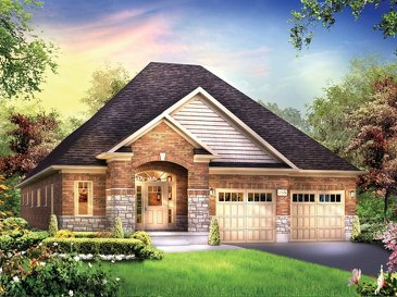 The Bayberry new home model plan at the Grandville by Eastforest Homes in Paris