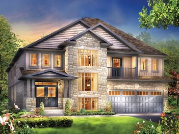 The Hampton new home model plan at the Grandville by Eastforest Homes in Paris