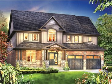 The Everest new home model plan at the Eby Estates by Eastforest Homes in Kitchener