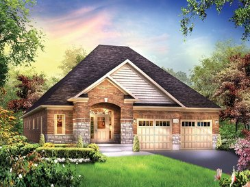 The Augusta new home model plan at the Eby Estates by Eastforest Homes in Kitchener