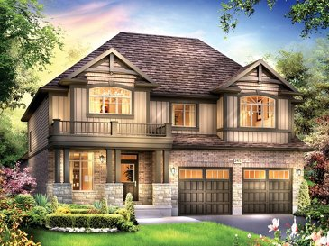 The Mckinley new home model plan at the Eby Estates by Eastforest Homes in Kitchener