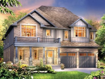 The Elbrus new home model plan at the Eby Estates by Eastforest Homes in Kitchener