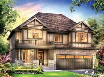 The Cantebury new home model plan at the Grandville by Eastforest Homes in Paris