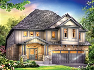 The Chandler new home model plan at the Grandville by Eastforest Homes in Paris