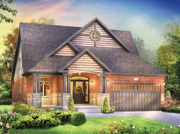 The Dietrich new home model plan at the Grandville by Eastforest Homes in Paris