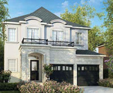 The Ashford new home model plan at the Westfield by Great Gulf in Brampton