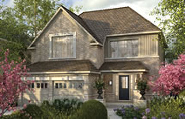The Brock new home model plan at the Rolling Meadows by Great Gulf in Thorold