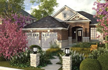 The Smithville new home model plan at the Rolling Meadows by Great Gulf in Thorold