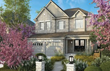 The Glenview new home model plan at the Rolling Meadows by Great Gulf in Thorold