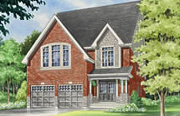 The Walnut new home model plan at the Summerlyn Village by Great Gulf in Bradford