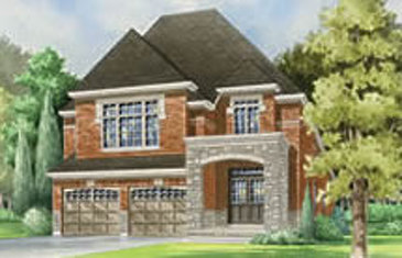 The Maple new home model plan at the Summerlyn Village by Great Gulf in Bradford