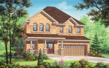 The Cardinal new home model plan at the Valleylands of the Credit River (FG) by Fieldgate Homes in Brampton