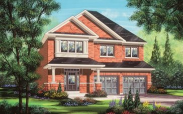 The Dove new home model plan at the Valleylands of the Credit River (FG) by Fieldgate Homes in Brampton