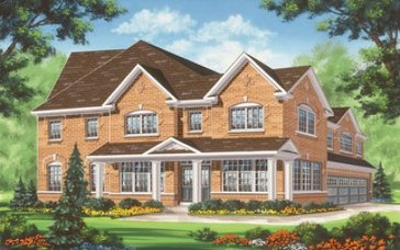 The Blue Jay new home model plan at the Valleylands of the Credit River (FG) by Fieldgate Homes in Brampton