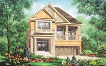 The Raven new home model plan at the Valleylands of the Credit River (FG) by Fieldgate Homes in Brampton
