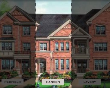 The Hansen new home model plan at the Impressions in Kleinburg by Fieldgate Homes in Woodbridge