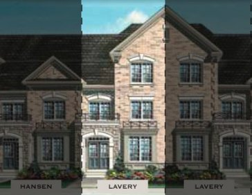 The Lavery new home model plan at the Impressions in Kleinburg by Fieldgate Homes in Woodbridge