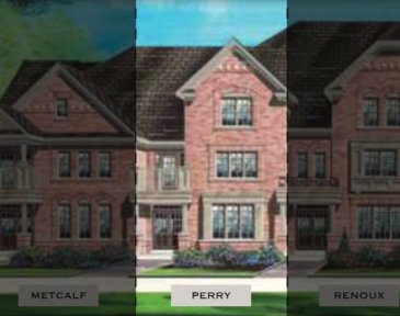 The Perry new home model plan at the Impressions in Kleinburg by Fieldgate Homes in Woodbridge
