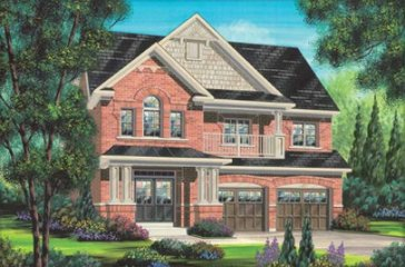 The Cezanne new home model plan at the Impressions in Kleinburg by Fieldgate Homes in Woodbridge