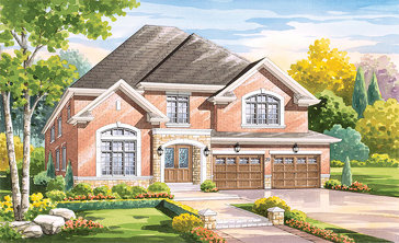 The Marsala new home model plan at the Vintages by Highmark in Whitby