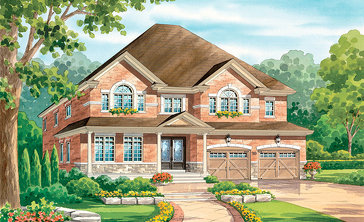 The Bardolino new home model plan at the Vintages by Highmark in Whitby