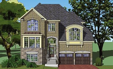 The Amarone new home model plan at the Vintages by Highmark in Whitby