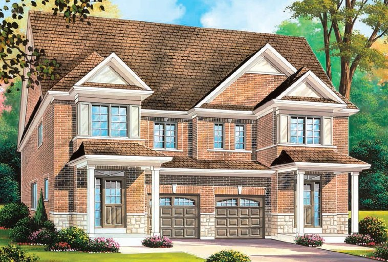 Brampton 2H floor plan at Quails Hollow by Greenpark in Brampton, Ontario