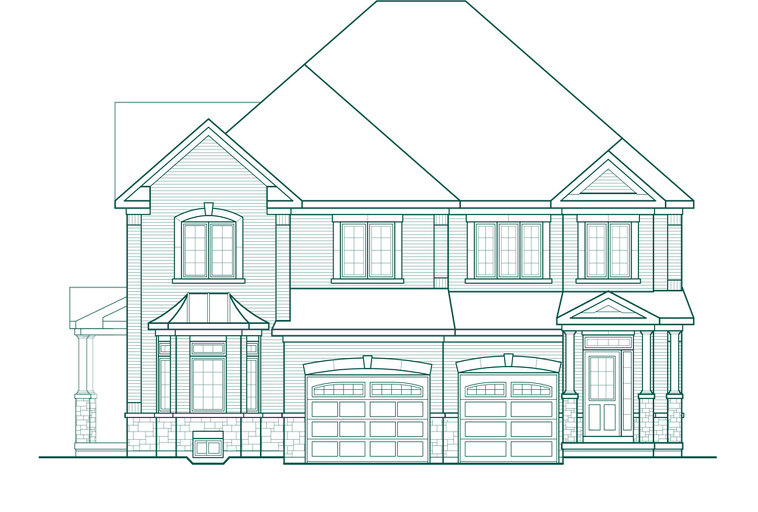 Elmbrook 2SA floor plan at Quails Hollow by Greenpark in Brampton, Ontario