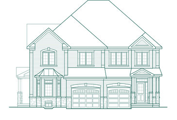 The Elmbrook 2SA new home model plan at the Quails Hollow by Greenpark in Brampton