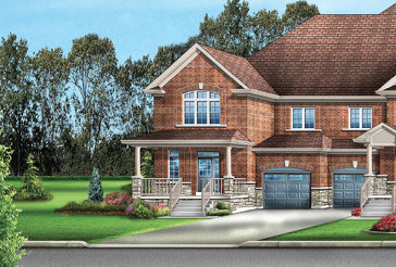 The Addison 3E new home model plan at the Mayfield Village by Greenpark in Brampton