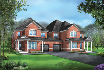 The Milano 4A new home model plan at the Mayfield Village by Greenpark in Brampton