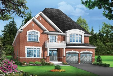 The Pinehurst 5 new home model plan at the Valleylands of the Credit River (GP) by Greenpark in Brampton