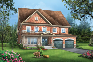 The Colton1 new home model plan at the Vales of the Humber by Greenpark in Brampton
