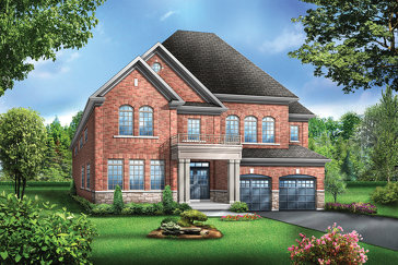 The Colton 6 new home model plan at the Vales of the Humber by Greenpark in Brampton