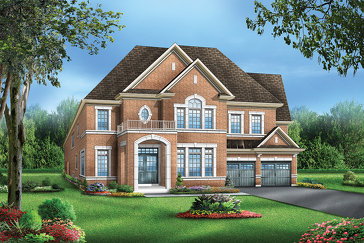 The Denton 5 new home model plan at the Vales of the Humber by Greenpark in Brampton